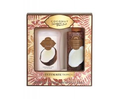 INTIMATE TROPICAL- COCONUT HIBISCUS SHIMMER DUO SET